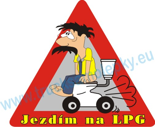 Samolepka Jezdím na LPG