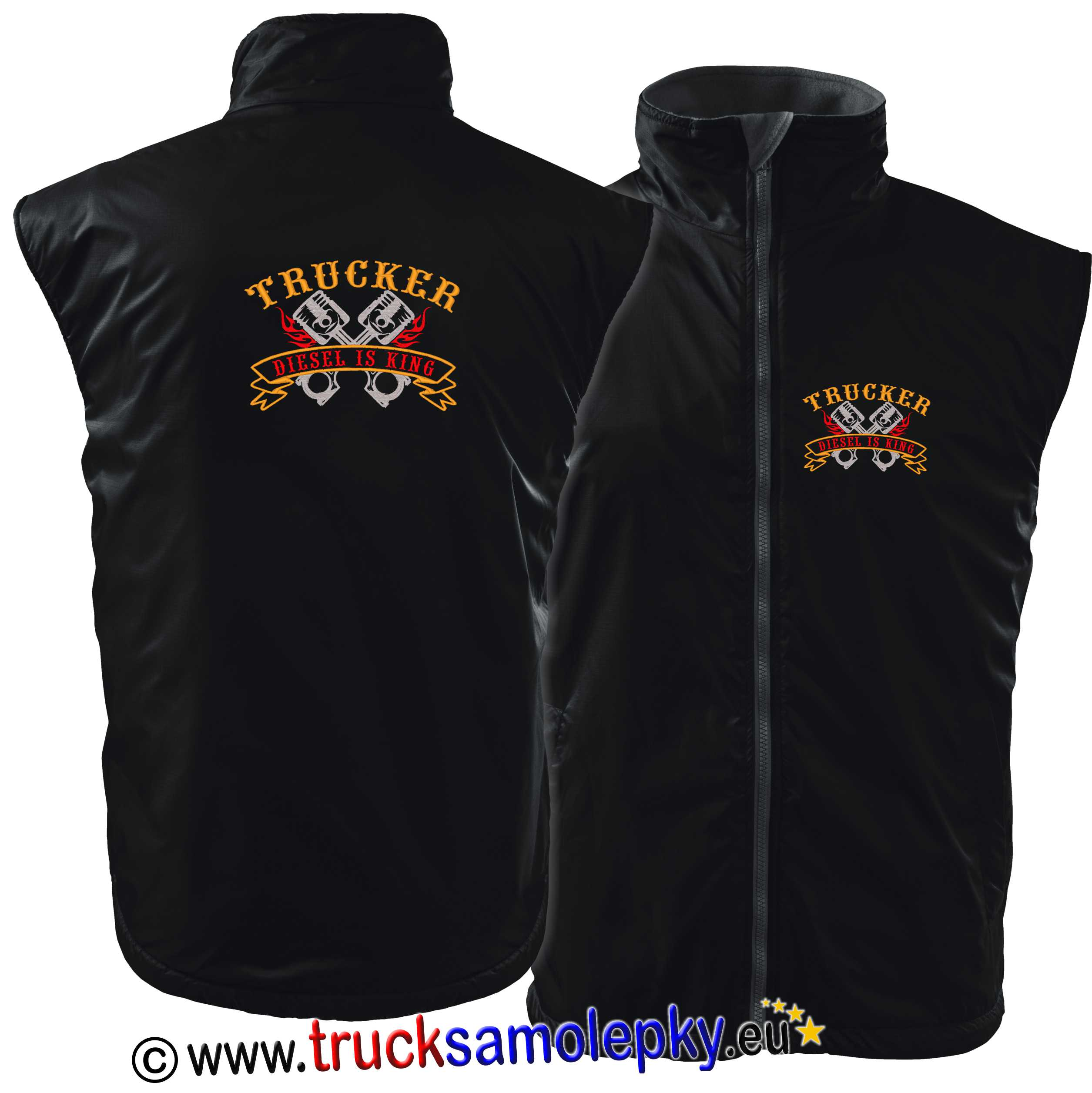 Vesta body warmer TRUCKER DIESEL IS KING