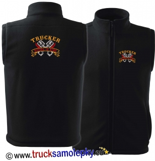 Vesta fleece TRUCKER DIESEL IS KING