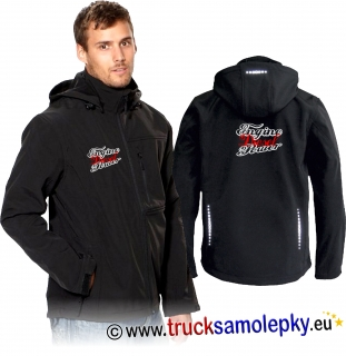 Truck softshell jacket s kapucí ENGINE DIESEL POWER